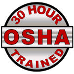30 Hour OSHA Trained Hard Hat Decal - Weatherproof